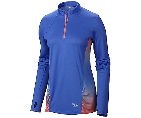 photo: Mountain Hardwear Wicked Electric Long Sleeve Zip T