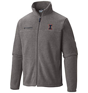 Men's Collegiate Flanker™ II Full Zip Fleece - Illinois