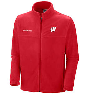 Men's Collegiate Flanker™ II Full Zip Fleece - Wisconsin