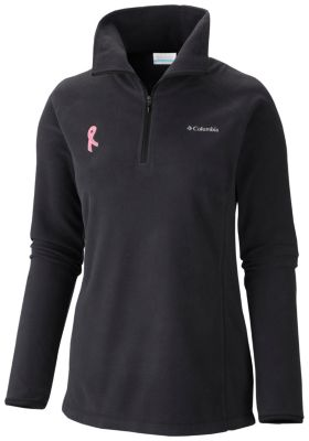 Women's Tested Tough in Pink™ Fleece Half Zip - Plus Size