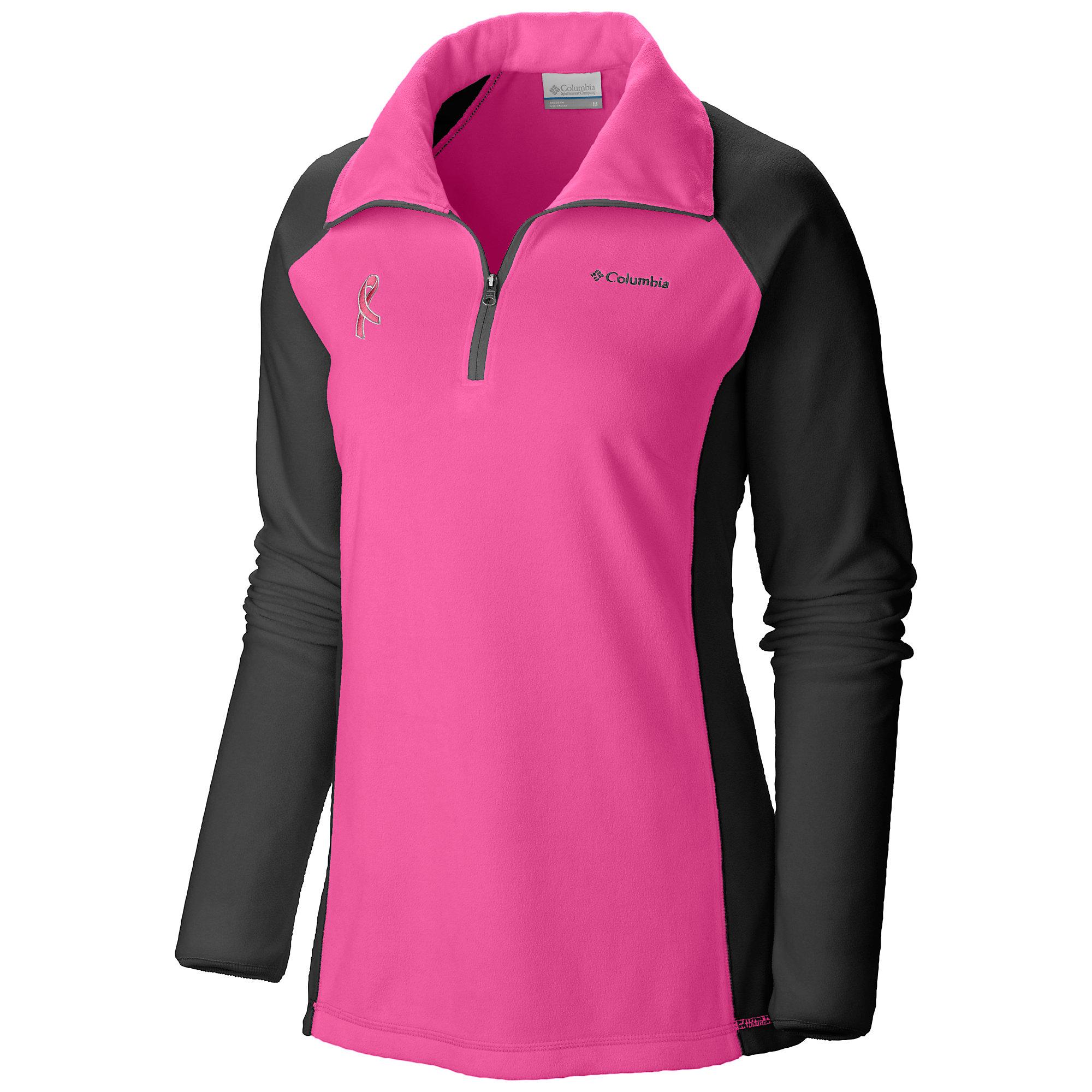 Columbia Tested Tough in Pink Fleece Half Zip