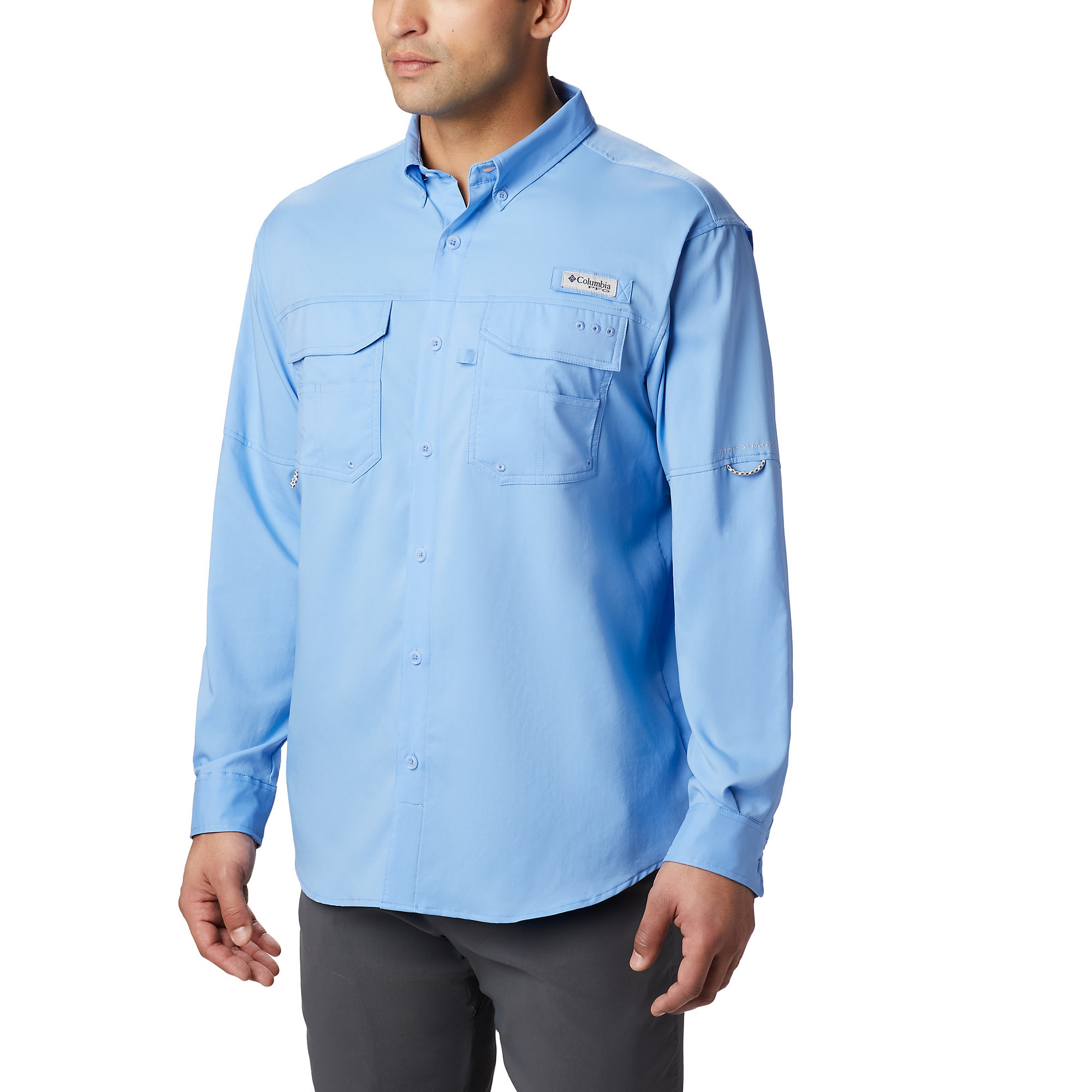 d150dc2ae86 ... Shirt, White UPC 888458864678 product image for Columbia Blood and Guts  III LS Woven S XL- Blue