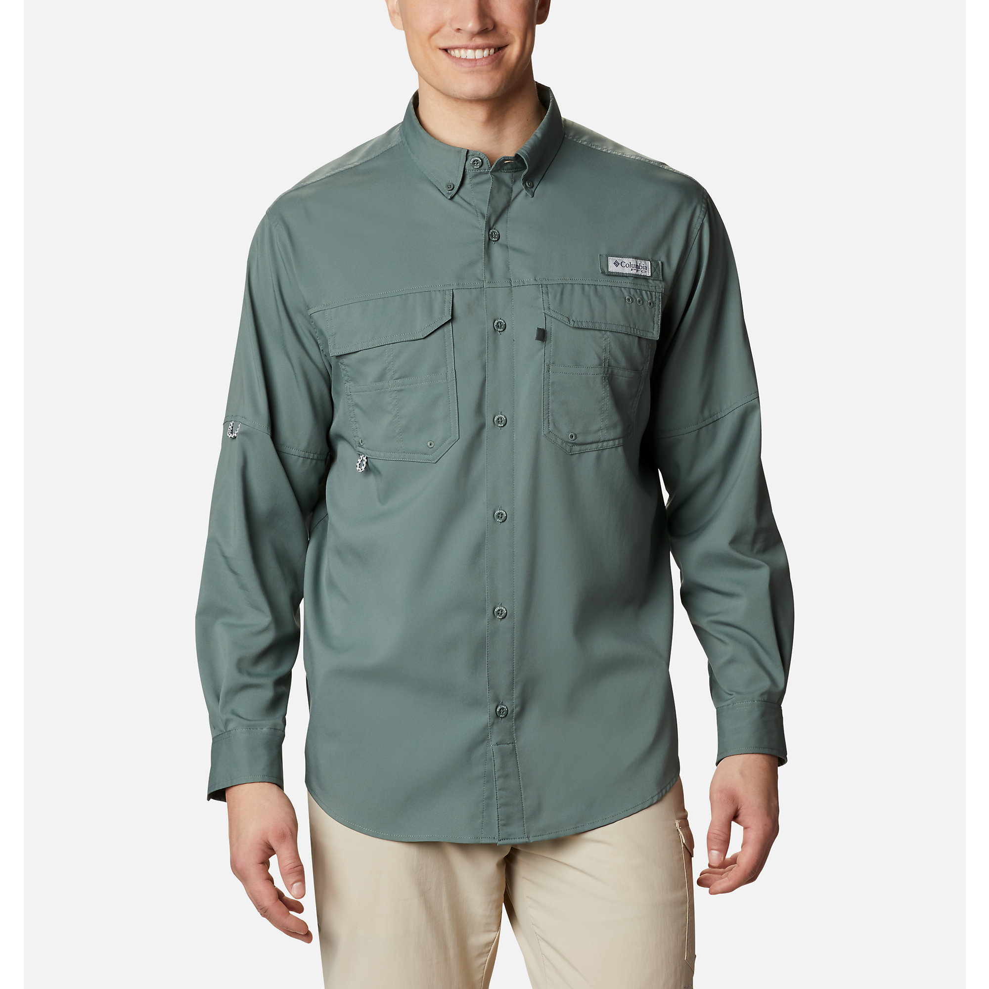 photo: Columbia PFG Blood and Guts III Long Sleeve Woven Shirt