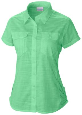 Women s camp henry all cotton short sleeve shirt for Women s long sleeve camp shirts
