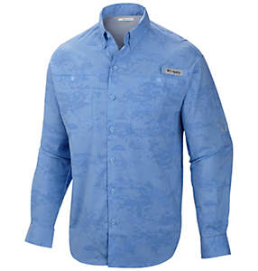 Men's PFG Solar Camo™ Long Sleeve Woven Shirt