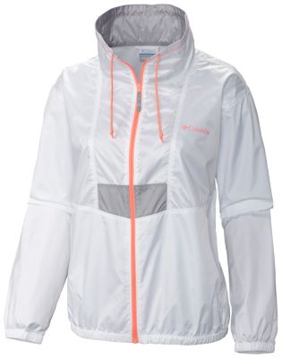 Womens White Windbreaker Jacket in5VMj