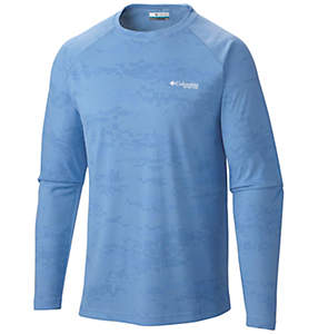 Men's PFG Solar Camo™ Long Sleeve Knit Shirt