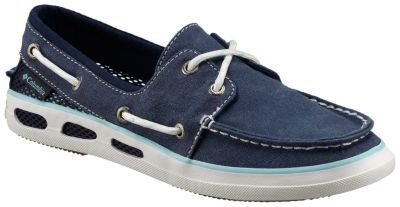 Womens Vulc N Vent Canvas Boat Shoes Columbia