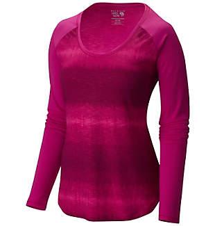Women's DrySpun Printed Crewneck Long Sleeve Shirt