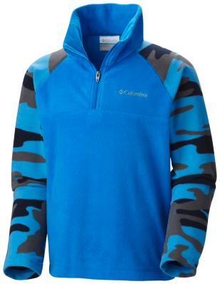 Boy's Glacial™ II Print Half Zip Fleece Pullover at Columbia Sportswear in Daytona Beach, FL | Tuggl