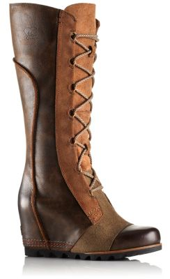 81a0f6bb5a3 SOREL Women s Cate The Great Wedge with full-grain leather.