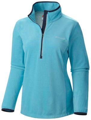 photo: Columbia Women's Blue Basin Half Zip Fleece Pullover