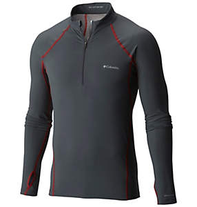 Men's Midweight Stretch Long Sleeve Baselayer Half Zip Shirt