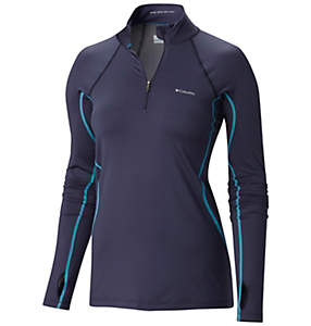 Women's Midweight Stretch Baselayer Long Sleeve Half Zip Shirt