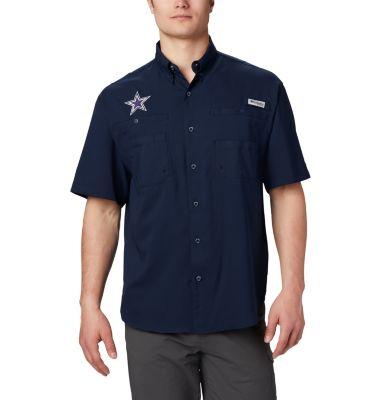 Columbia men s tamiami short sleeve shirt vented dallas for Dallas cowboys fishing shirt