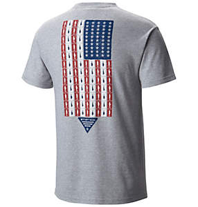 Men's PFG Americana Fish Flag™ Short Sleeve Tee Shirt - Big