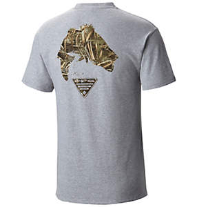 Men's PFG Bass™ Camo Short Sleeve Tee Shirt