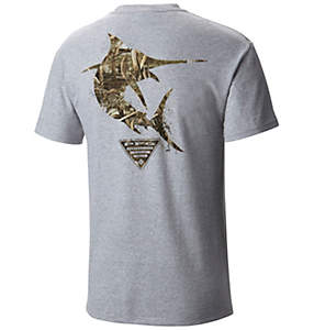 Men's PFG Marlin™ Camo Short Sleeve Tee Shirt