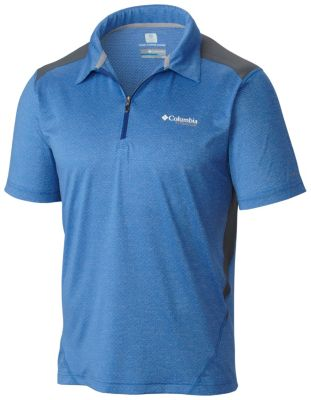 Columbia Titan Ice Zip Polo Shirt