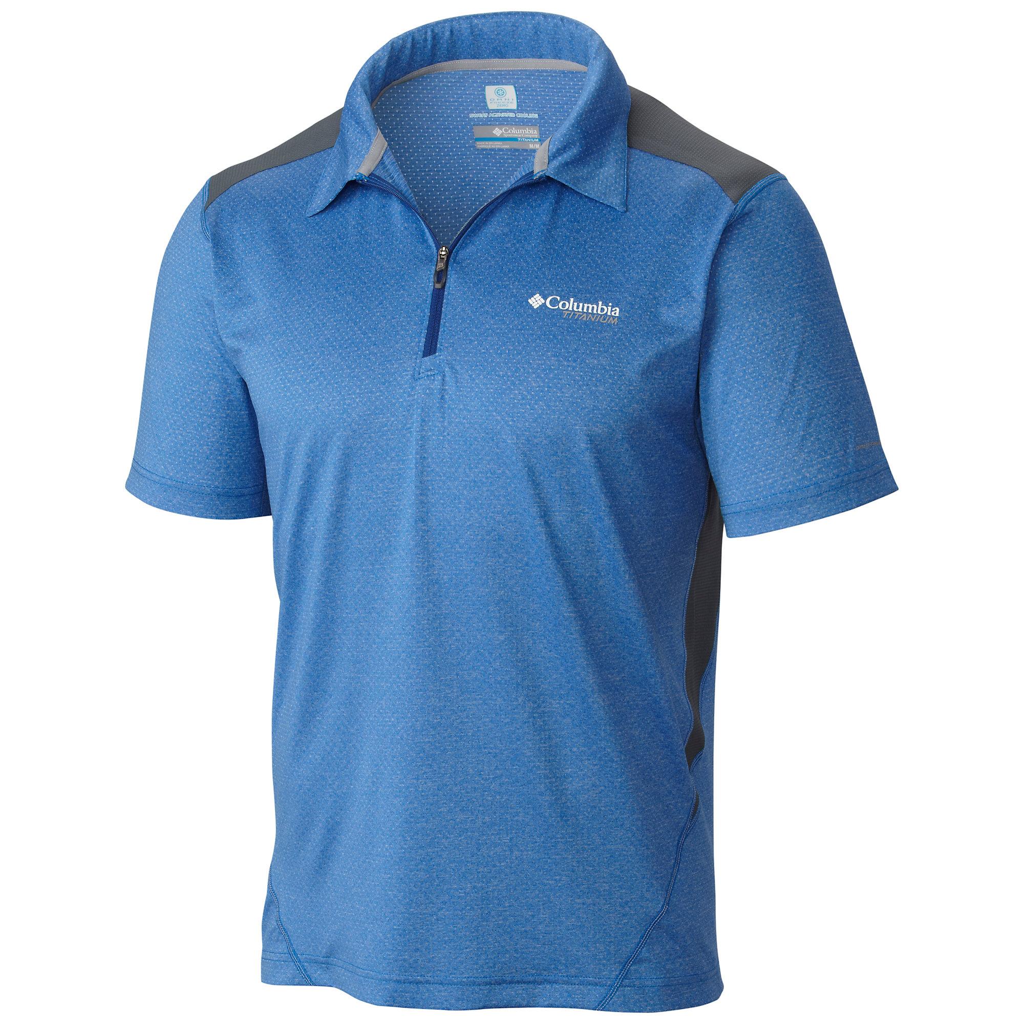 Columbia Titan Ice Zip Polo Shirt