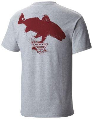 Men s pfg silhouette series redfish short sleeve cotton for Columbia cotton fishing shirt