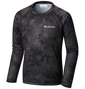 Youth Midweight Printed Baselayer Crew Neck Long Sleeve Shirt