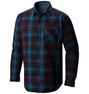 Men's Reversible Plaid Long Sleeve Shirt
