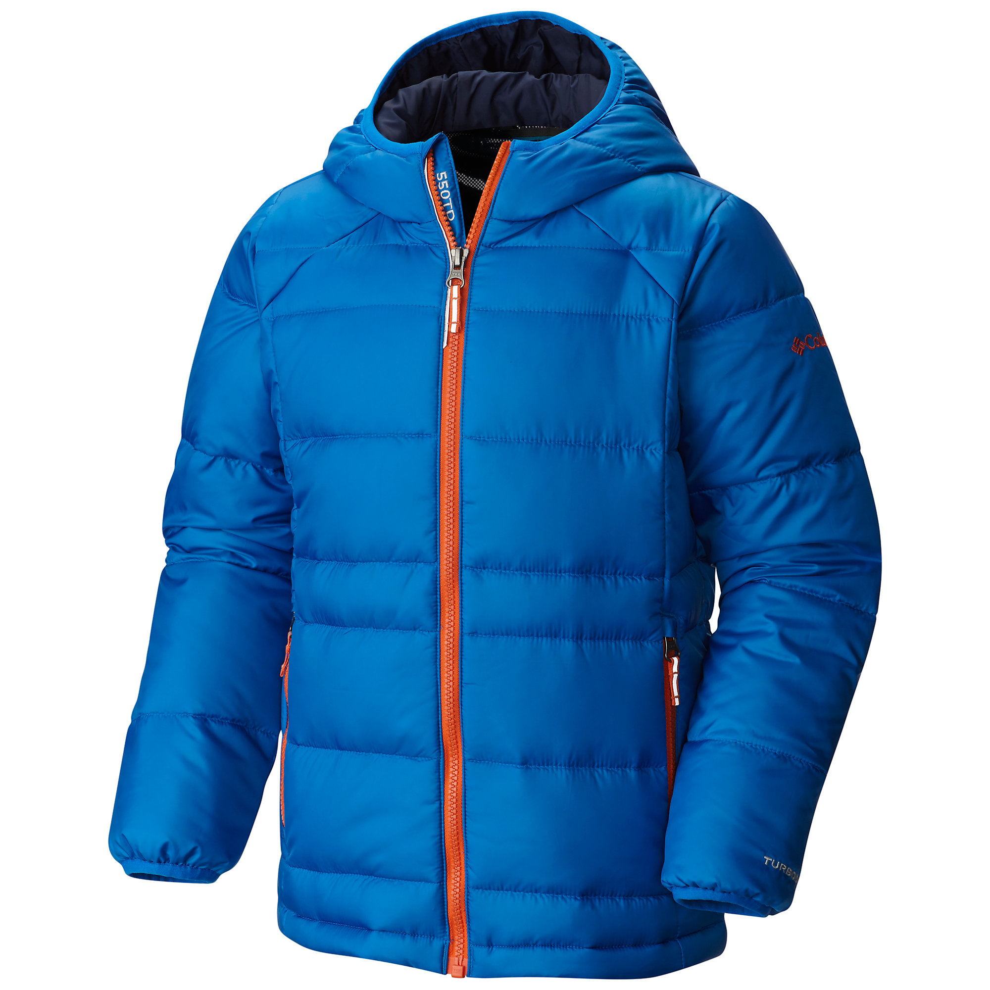 photo: Columbia Boys' Gold 550 TurboDown Hooded Down Jacket