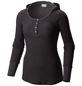 Women's Weekday Waffle™ Henley Long Sleeve Hoodie Shirt