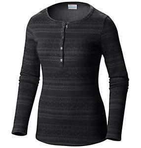 Chandail Henley à manches longues en tricot Jacquard Aspen Lodge™ pour femme