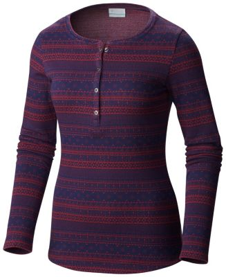 Women's Hood Mountain Lodge™ Jacquard Henley Long Sleeve Shirt at Columbia Sportswear in Daytona Beach, FL | Tuggl