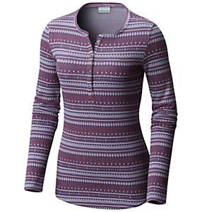 Women's Hood Mountain Lodge™ Jacquard Henley Long Sleeve Shirt - Plus Size