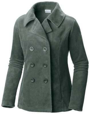 Women's Benton Springs Fleece Button Up Pea Coat Jacket | Columbia.com