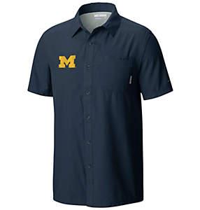 Men's Collegiate Slack Tide™ Camp Short Sleeve Shirt - Michigan