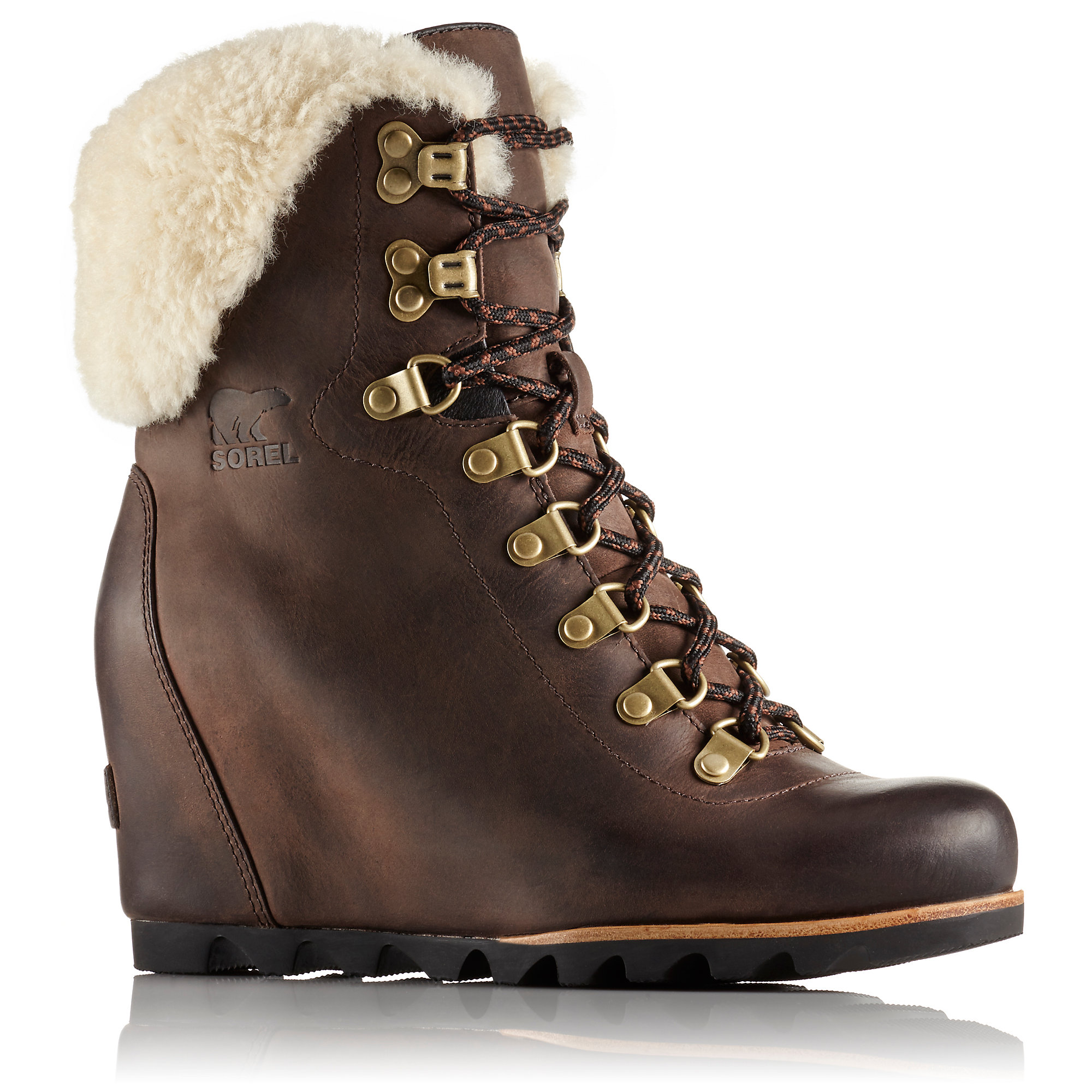 Sorel CONQUEST WEDGE SHEARLING BOOTS
