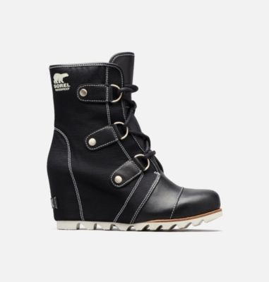 a19074117bde Women s Joan Of Arctic Waterproof Nylon And Leather Mid High Wedge Boot