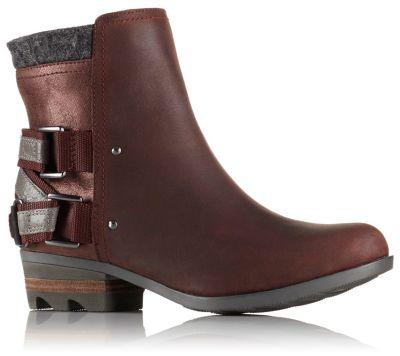 Sorel Lolla Strappy Leather Bootie 1olMOKqn