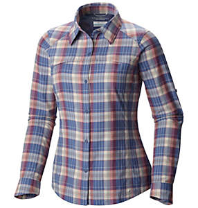 Camicia a maniche lunghe con motivo scozzese Silver Ridge™ da donna