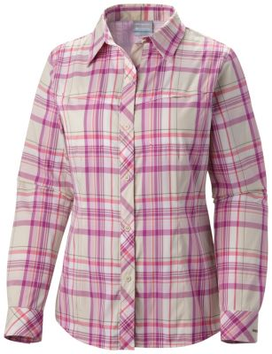 photo: Columbia Women's Bug Shield Plaid Long Sleeve Shirt