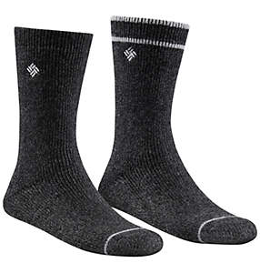 Women's Cushioned Brushed Fleece Stripe Crew Sock - 2 Pack