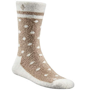 Women's Cozy Dots Crew Sock