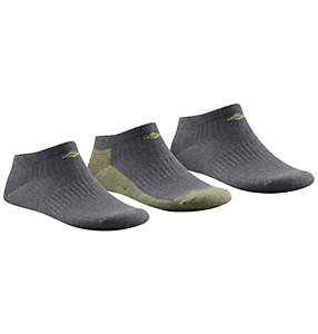 Women's Athletic Flat Knit Marled with Rib No Show Sock - 3 Pack