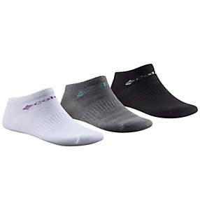 Women's Athletic Flat Knit Mesh Ventilated No Show Sock - 3 Pack