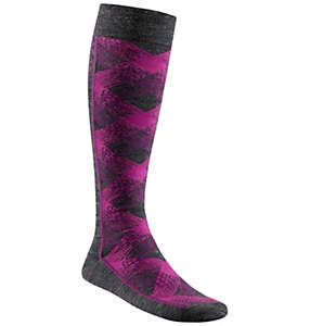 Criss Cross Plaid Over-The-Calf Super-Light Ski Sock