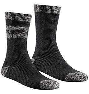 Men's Border Motif Crew Sock 2 Pack