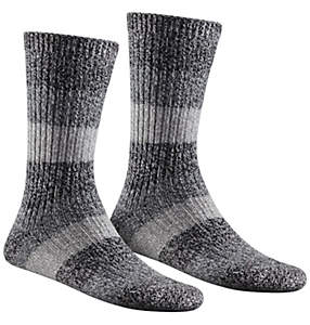Women's Super Soft Marl Striped Crew Sock 2 Pack