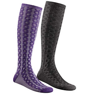 Women's Heather Cable Knee-High 2 Pack