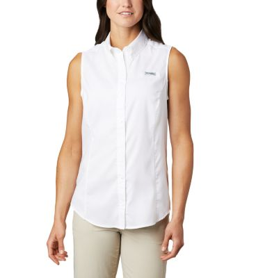 Women s pfg tamiami vented sleeveless fishing shirt Columbia womens fishing shirt