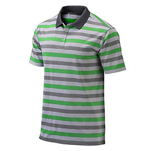 Men's Heather Stripe Golf Polo
