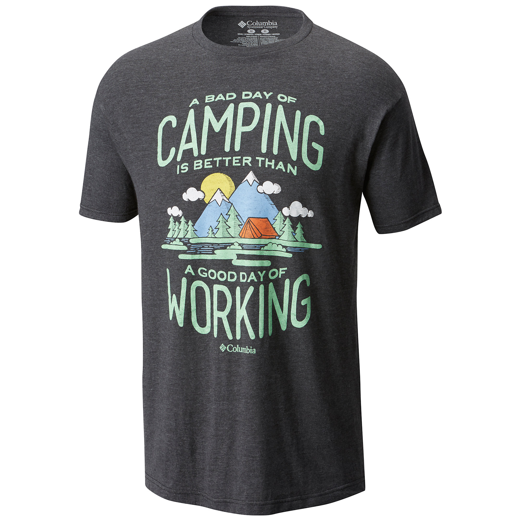 Columbia Men's Camp Cotton Tee Shirt S/  030  S- 191764116707